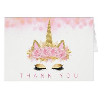 Unicorn Face Unicorn Thank You Cards