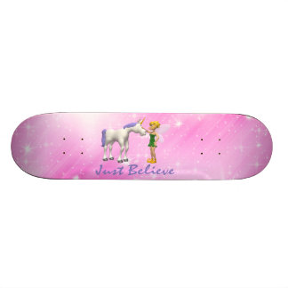 Unicorn & Fairy Just Believe Custom Skateboard