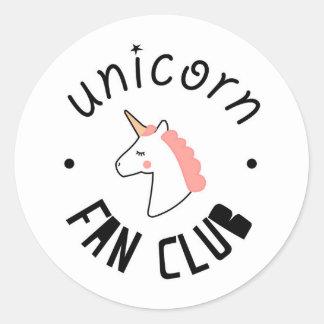 Unicorn Fan Club Stickers