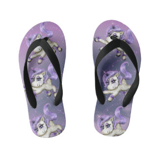 UNICORN FANTASY LOVE  Flip Flops Kids  Toddler 2 Thongs