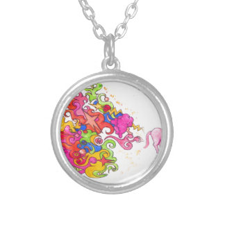 Unicorn Fart Silver Plated Necklace