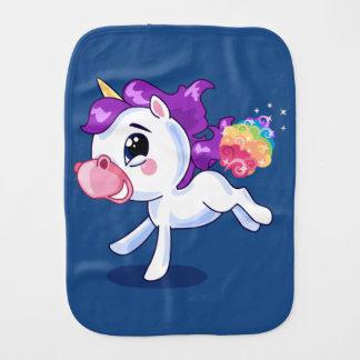 Unicorn Farts Baby Burp Cloths