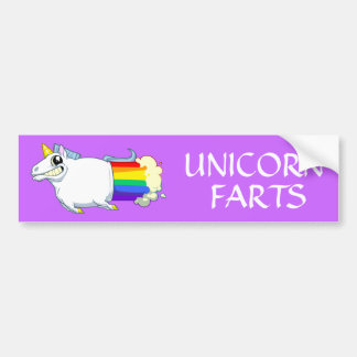 Unicorn Farts Bumper Sticker