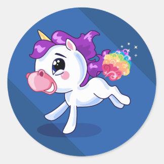 Unicorn Farts Round Sticker
