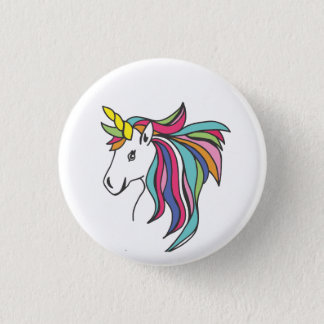 Unicorn Flare 3 Cm Round Badge