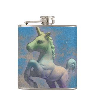 Unicorn Flask Vinyl Wrapped (Sandy Blue)