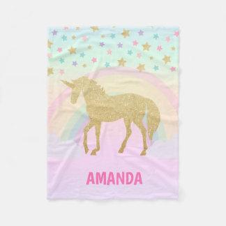 Unicorn Fleece Blanket, Small