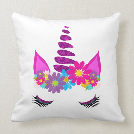 Unicorn Flowery Super Cute Girly Cushion