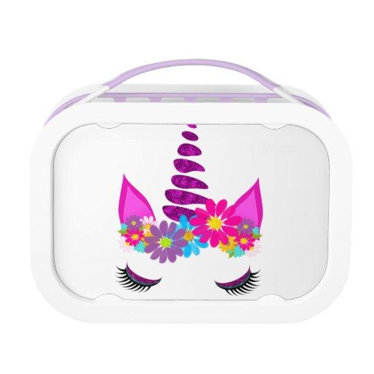 Unicorn Flowery Super Cute Girly Lunch Box