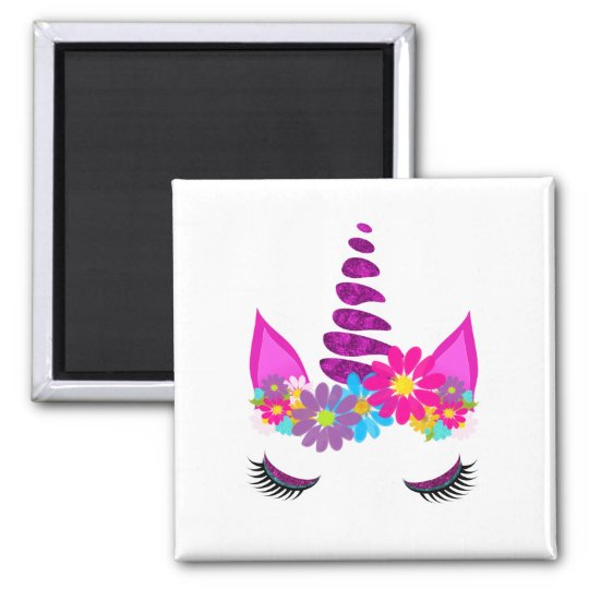Unicorn Flowery Super Cute Girly Magnet