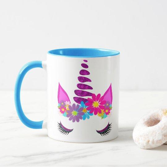Unicorn Flowery Super Cute Girly Mug