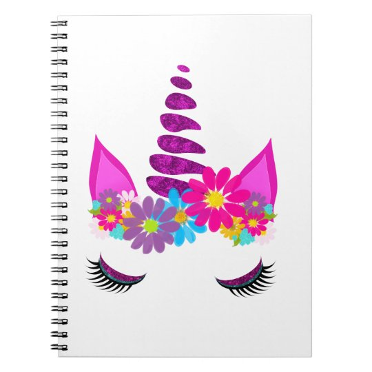Unicorn Flowery Super Cute Girly Notebook