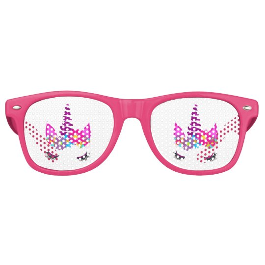 Unicorn Flowery Super Cute Girly Retro Sunglasses
