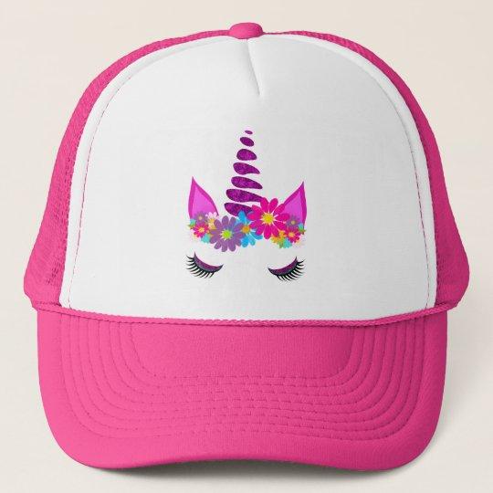 Unicorn Flowery Super Cute Girly Trucker Hat