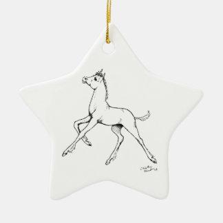 Unicorn Foal Ceramic Ornament