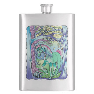 Unicorn Forest Hip Flask