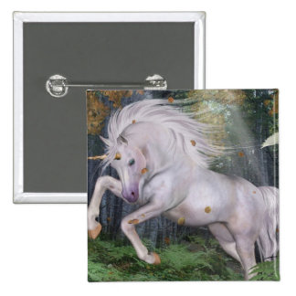 Unicorn Forest Stars Cristal Blue 15 Cm Square Badge
