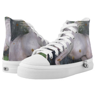 Unicorn Forest Stars Cristal Blue Printed Shoes