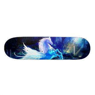 Unicorn Forest Stars Cristal Blue Skateboard Decks