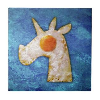 Unicorn Fried Egg Ceramic Tile