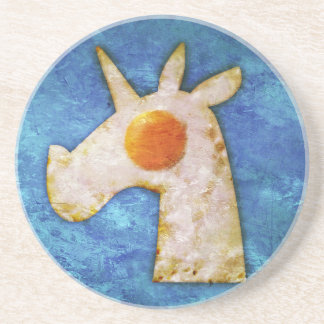 Unicorn Fried Egg Coaster