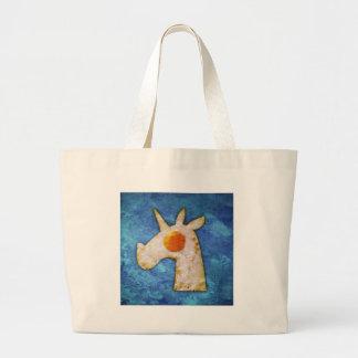 Unicorn Fried Egg Large Tote Bag