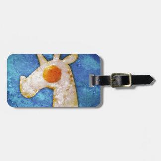 Unicorn Fried Egg Luggage Tag