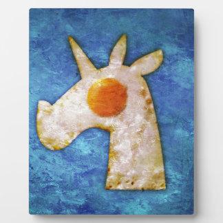 Unicorn Fried Egg Plaque
