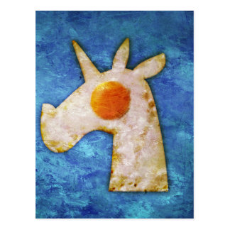 Unicorn Fried Egg Postcard