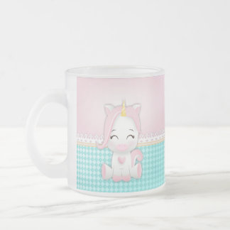 UNICORN FROSTED GLASS COFFEE MUG