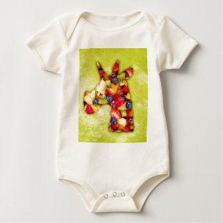 Unicorn Fruit Salad Baby Bodysuit