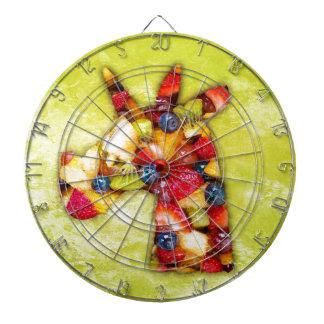 Unicorn Fruit Salad Dartboard