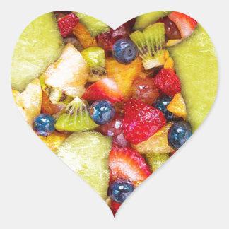 Unicorn Fruit Salad Heart Sticker