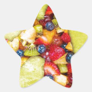 Unicorn Fruit Salad Star Sticker
