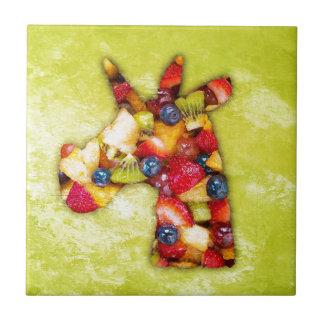 Unicorn Fruit Salad Tile