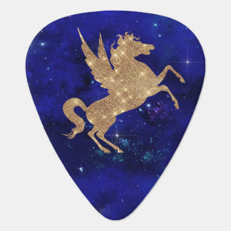 Unicorn Galaxy Stars Blue Night Sky Guitar Pick