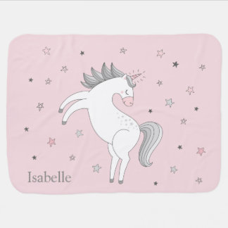 Unicorn Girl Baby Blanket