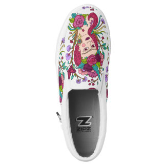 Unicorn girl slip on shoes