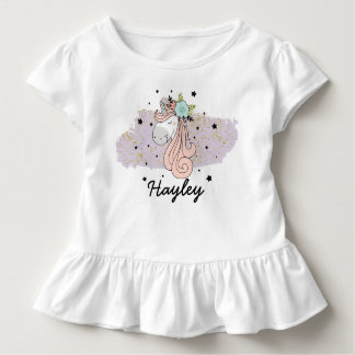 Unicorn Girls Toddler Ruffle Tee
