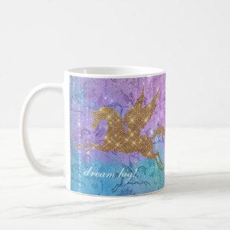 Unicorn Glitter Sparkle Rainbow Lights Mug