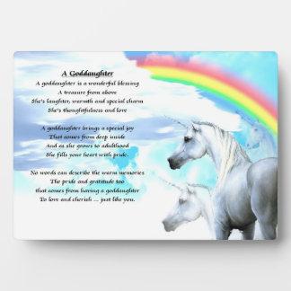 Unicorn goddaughter poem plaque