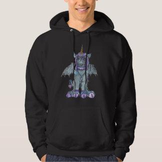 Unicorn Goth Blue Horse Pony Hoodie