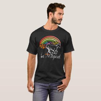 Unicorn graphic with rainbow and flames - I'm magi T-Shirt