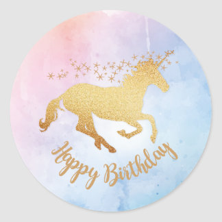 Unicorn Happy Birthday Sticker