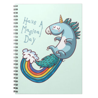 """Unicorn """"Have a Magical day"""" Spiral Notebook"""