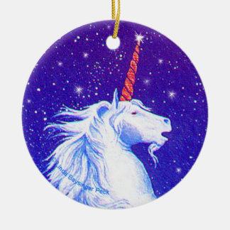 Unicorn Head Ceramic Ornament