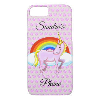 Unicorn & Hearts Cell Phone Case