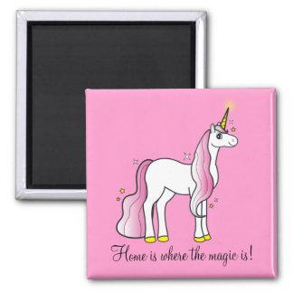 Unicorn: Home is Where the Magic Is! Fridge Magnets