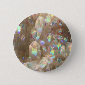 Unicorn Horn Aura Crystals 6 Cm Round Badge
