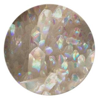 Unicorn Horn Aura Crystals Dinner Plates